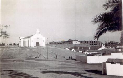 Iglesia de Corrales (Huelva). Fuente: Archivo Municipal de Aljaraque.
