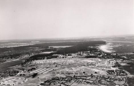 Vista aérea del poblado minero de Corrales (anterior a 1975). Fuente: Archivo Municipal de Aljaraque.