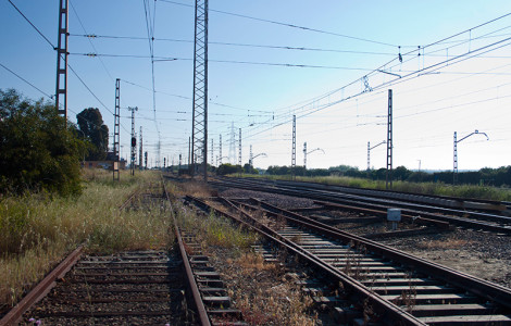 Ferrocarril Zafra-Huelva. Tramo Gibraleón-Huelva. Zafra-Huelva Railway. Section Gibraleón-Huelva.